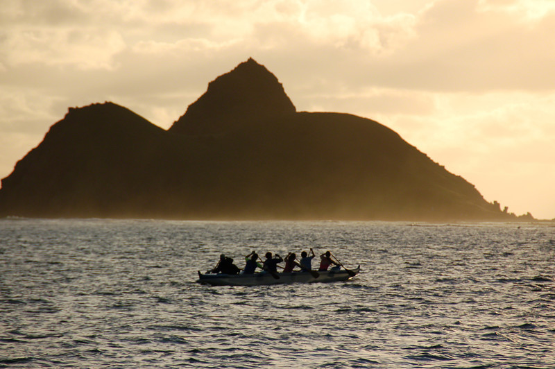 Paddlers from Lanikai Beach at Dawn (2006)