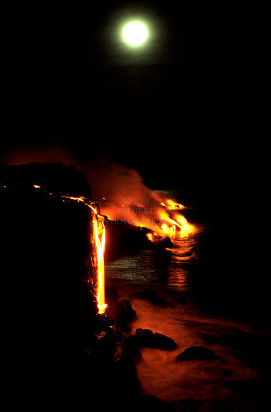 ~ Winter Solstice Full Moon Lava  #3 ~<br /> <br /> Southeast shores of the Island of Hawaii
