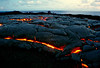 ~ Pele Meets People ~<br /> <br /> Pahoehoe lava slowly churns and covers older lava along the southeast shores of the Island of Hawaii.