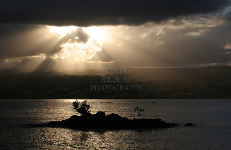 ~ Hilo Bay ~<br /> <br /> ... With a few canoers<br /> Island of Hawaii<br /> <br /> (Order form #58)