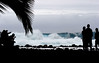 Surf watching local style<br /> <br /> They are watching the large surf generated by a close call with Hurricane Flossie in 2007