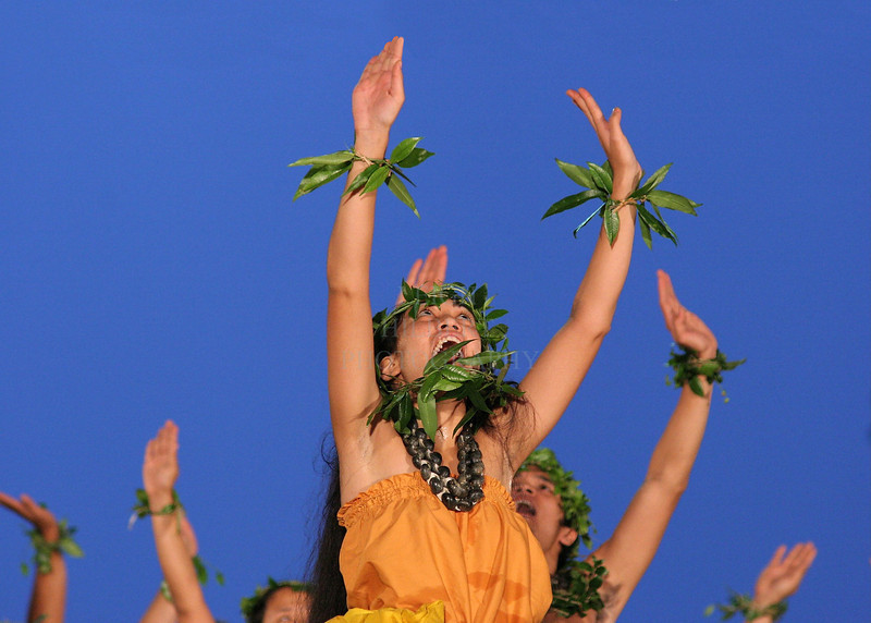 42nd annual Merrie Monarch Festival, Hilo Hawaii-1st week of April:<br /> Halau O Kekuhi (Name of performance) from Hilo, kumu (teacher) hula Pulani Kanaka`ole & Nalani Kanaka`ole.<br /> <br /> <br /> <br /> (hula 056)