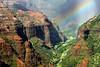 Waimea Canyon, Kauai, Hawaii<br /> <br /> The four-million years of erosion on Kauai have etched out the lava into a spectacular canyon in the middle of the southwest side of the island. <br /> The record setting annual rainfall continues carving new shapes.<br /> Kauai's longest river of 19-miles runs in this valley bottom.