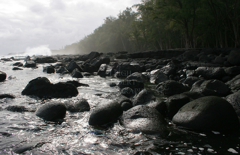 Southeast shores of the island of Hawaii
