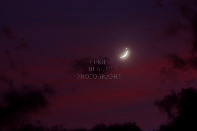 Crescent Moon Sunset (Taken long after the sun actually set :)