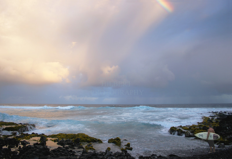 #2 --Surfing the reef breaks at the end of the day; Island of Hawaii.<br /> We surf right until it is dark.