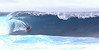 Coming out of the barrel<br /> <br /> Body board surfing on the Island of Hawaii
