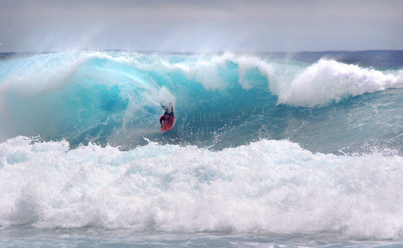 Storm wave fun<br /> <br /> Body board surfing on the Island of Hawaii
