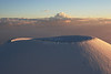 """Sunset on Puu Hau Kea -- Massive Volcanic Cinder Cone - Hawaii ~~Snowboarders Delight!<br /> <br /> Do you see the two snowboarders climbing up? No chair lifts on Hawaiian volcanoes! (Full mountain view here: <a href=""""http://leighs-gallery.smugmug.com/gallery/2388483#267263787_SuyeV"""">http://leighs-gallery.smugmug.com/gallery/2388483#267263787_SuyeV</a><br /> Read a story about the snowboarders on this volcano, and more photos of these mountains here on my Flickr photo site: <a href=""""http://www.flickr.com/photos/57515799@N00/105718374"""">http://www.flickr.com/photos/57515799@N00/105718374</a><br /> <br /> (If purchasing a print, select no-crop to get a full framed print, which will require cropping off white-boarders later)<br /> <br /> ** Commercial downloads are in the drop-down menu within the 'product' box on the purchase page."""