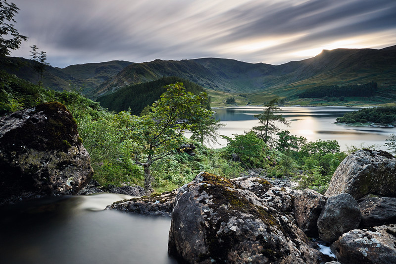 Sunset over Haweswater and Riggindale