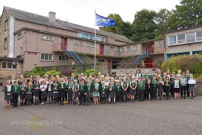16 ILF OCT Drumlanrig Gold Award Medal winners & School Council 0003