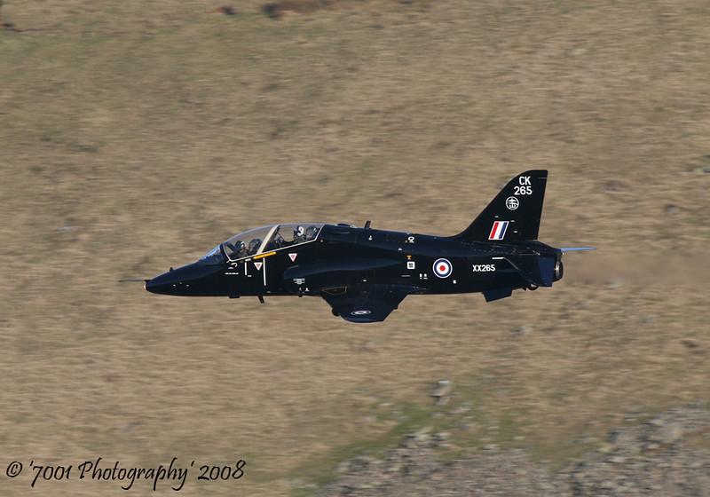 XX265/'265' 'CK' (100 SQN, JFACTSU marks) Hawk T.1 - 12th February 2008.
