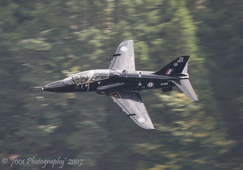 XX265/'265' 'CK' (100 SQN, JFACTSU marks) Hawk T.1 - 6th August 2007.