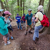 A group of hikers climb up Mt. Watatic on Saturday morning to take part in a hawk watch lead by Mark Archambault. SENTINEL & ENTERPRISE / Ashley Green