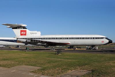 BEA (British European Airways) Hawker Siddeley HS.121 Trident 2E G-AVFB (msn 2141) EGSU (Richard Vandervord). Image: 930191.