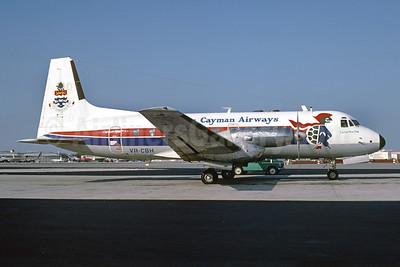 Cayman Airways Hawker Siddeley HS.748 Series 1 VR-CBH (msn 1557) MIA (Bruce Drum). Image: 102653.