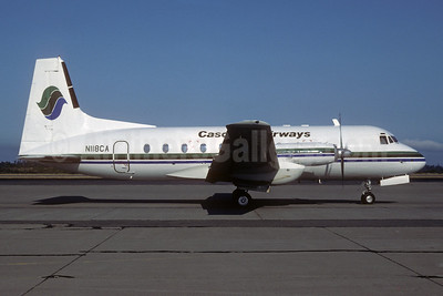 Cascade Airways Hawker Siddeley HS.748-2B/FAA N118CA (msn 1789) SEA (Bruce Drum). Image: 103212.