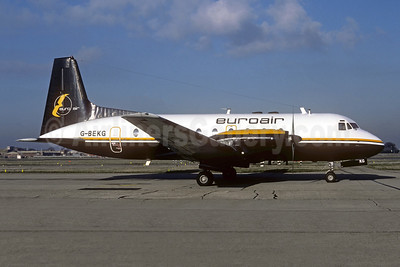 Euroair (UK) Hawker-Siddeley HS.748-105 Series 1 G-BEKG (msn 1557) LHR (Richard Vandervord). Image: 942435.