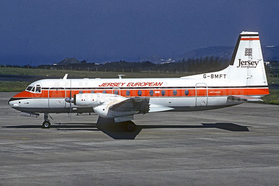 Jersey European Airways Hawker Siddeley HS.748-266 Series 2A G-BMFT (msn 1714) JER (Christian Volpati Collection). Image: 934115.