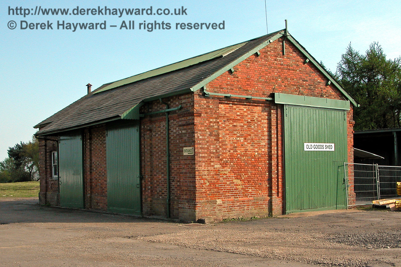 Hawkhurst Goods Shed formerly preserved within the former site of Hawkhurst Station, on an industrial estate at Gill's Green, Kent.  24.04.2004.  It is believed that this building has subsequently been demolished by developers.