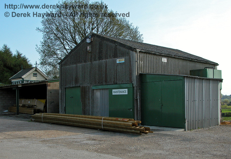 A Maintenance Shed within the former site of Hawkhurst Station, on an industrial estate at Gill's Green, Kent. The building does not appear on plans or photographs of the station, and appears to be located very close to the site of the former station water tower.  24.04.2004.   It is believed that this building has subsequently been demolished by developers.