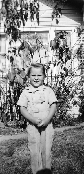Tom age 3 while living on Grevilla St., Hawthorne