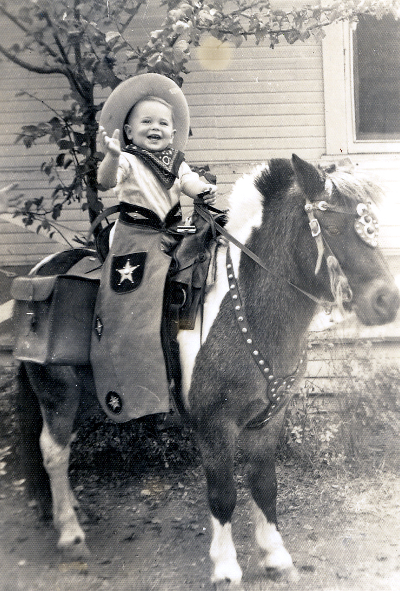 Tommy on a horse age 2