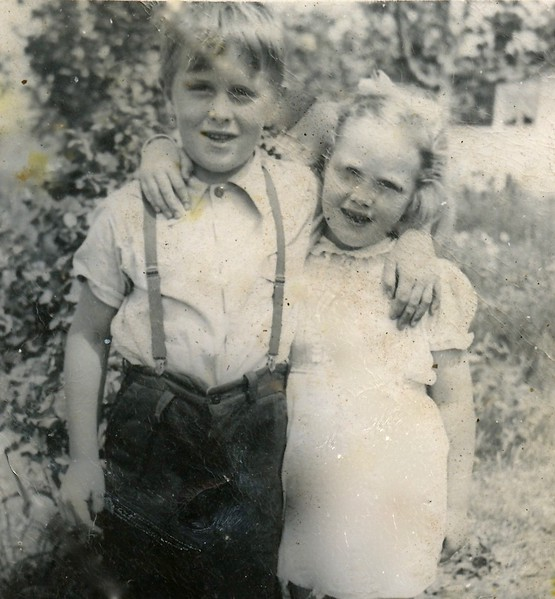 Tom and Carol Cotton at 11832 Grevillea Avenue Hawthorne California @ 1945
