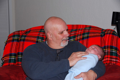 Grandpa Lemke and Hayden.  Grandpa turned into a big teddy bear with Hayden