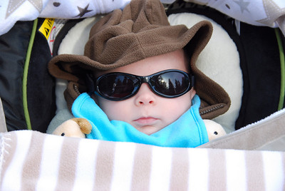 his future is so bright he has to wear shades!