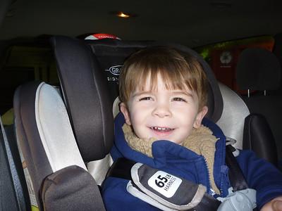 13, October 4:  Hayden's first day of pre-school