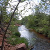 Oak Creek runs through the Sedona area and provides relief from the otherwise stark landscape.