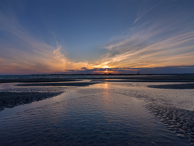 """Tidal Pool, East Winner, Sunset"""