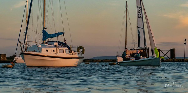 Returning from an evening sail