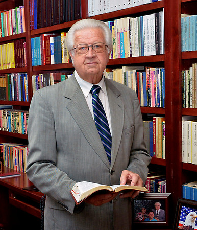Photo of Brother David Fisher in the Pastor's Study