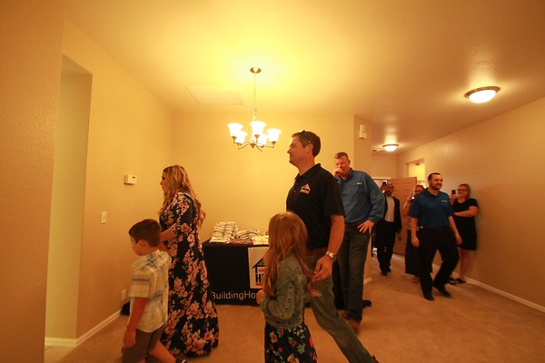 Building Homes for Heroes welcome ceremony