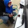 "From Makala Thompson of Buda. Her son, 18-month-old Luke, kept calling the ice ""sna!"""