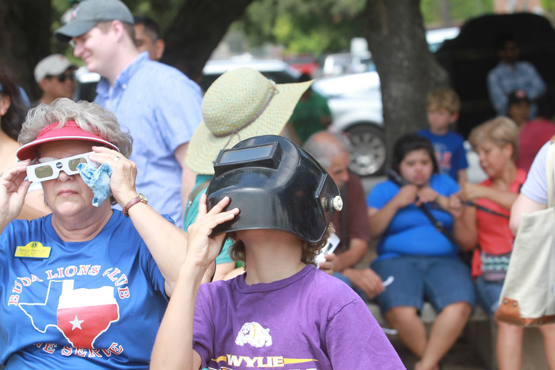 Viewing party for the Great American Solar Eclipse at the Buda Public Library