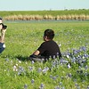 Bluebonnets at Lake Kyle Park