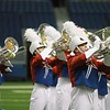 Hays and Lehman marching bands at Bands of America at the Alamodome in San Antonio