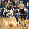 Hays High point guard Jacob Rodriguez eyes the lane during the Hays/Lehman rivalry game last January. Rodriguez was a pivotal cog in the Rebels' run to the UIL 4A regional final, scoring 14.2 points per game. (Photo by Rafael Marquez)