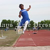 Lehman Lobo long jumper Malcolm Brown contorts his body during an attempt at the UIL area track meet in Cibolo. (Photo by MOSES LEOS III)