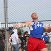 Hays High discus thrower Connor Lanfear winds up during an attempt at the UIL area track and field meet in Cibolo in April. (Photo by MOSES LEOS III)