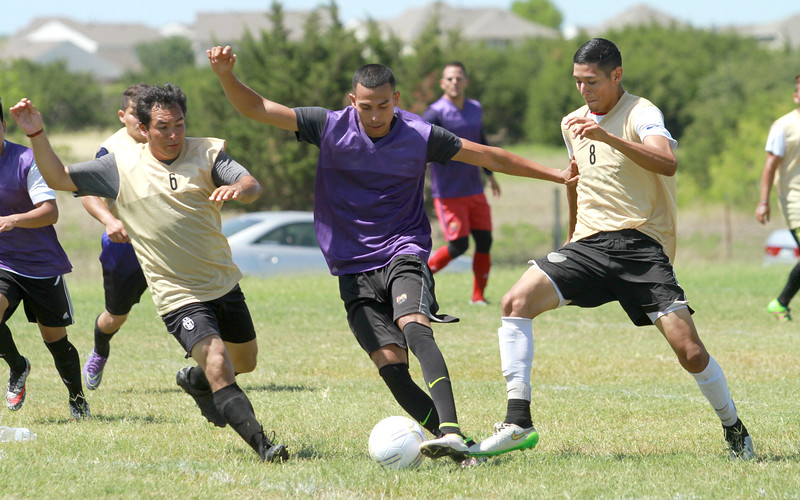 Soccer tryout at Gregg-Clarke Park in Kyle