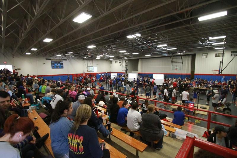 Hays, Lehman and Dripping Springs at the Hays Rebel powerlifting meet