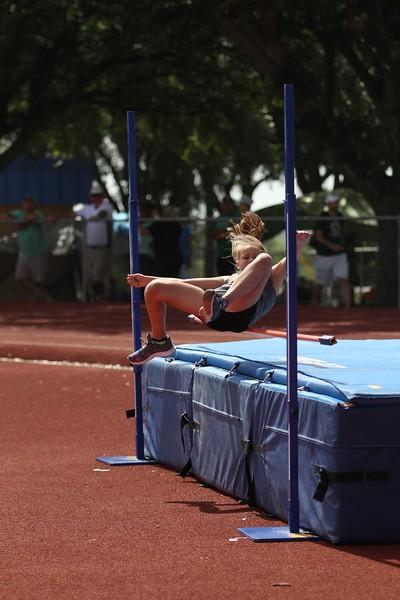 Track and Field, high jump, running events. TAAF, Texas Amateur Athletics Foundation, Shelton Stadium