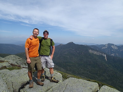 On the summit of Haystack...the third highest in the Adirondacks at 4,960 feet