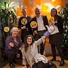 Happy NRC employees celebrating the launch; Astrid Sween, Daisy Bohn, Peter Schiller, May-Britt Johansen and Daria Salehi. Photo: NRC/Ingebjørg Kårstad
