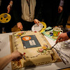 Cake to celebrate the launch, with a special greeting from Facebook Mark. Photo: NRC/Ingebjørg Kårstad