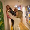 Peter Schiøler and intern Celine Johansen preparing for the launch party. Photo: NRC/Ingebjørg Kårstad